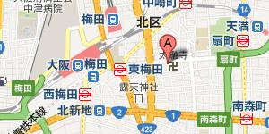 なるには學問堂への地図