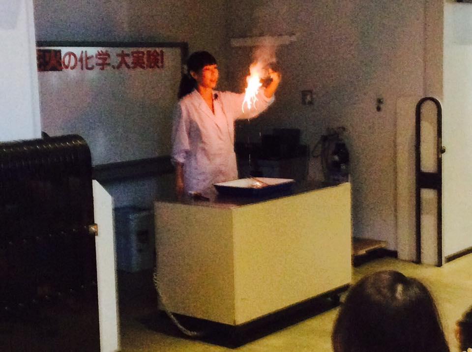 花火のサイエンス実験ショー