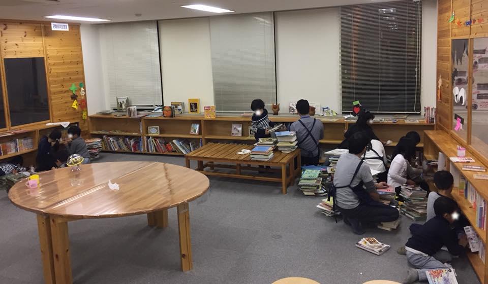 なるには図書室をおそうじしました。