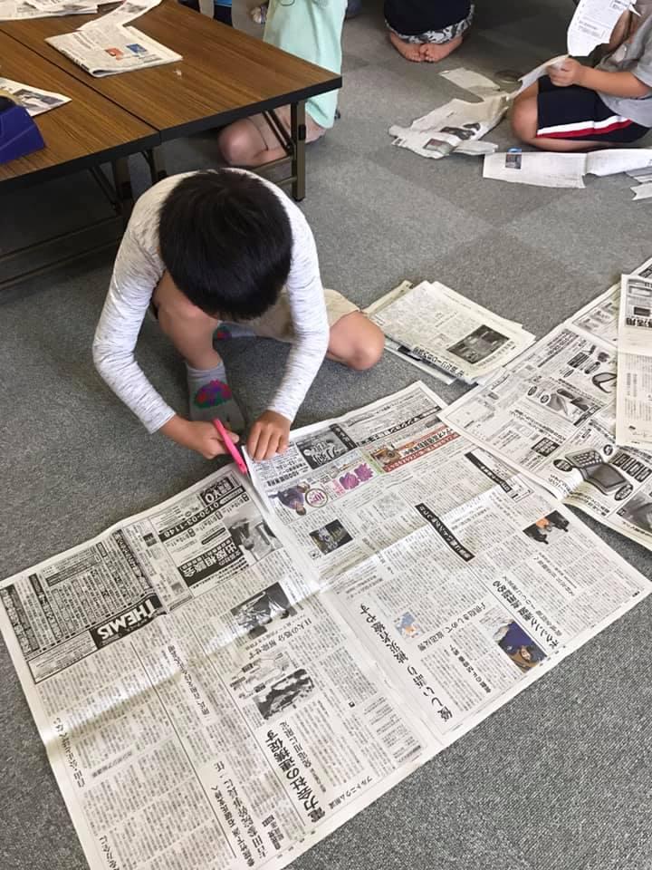 「使うのは新聞紙とセロテープだけ」